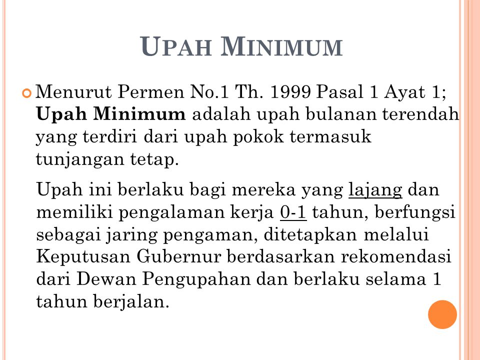 Upah Minimum