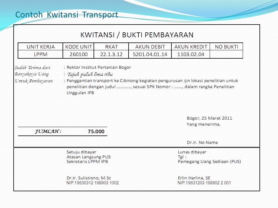Contoh Kwitansi Transport