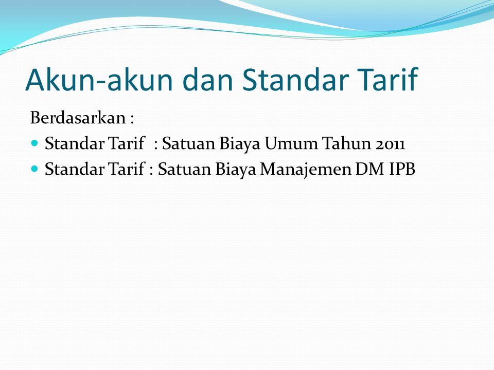Akun-akun dan Standar Tarif