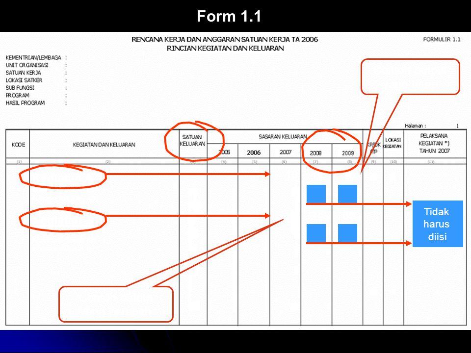 Form 1.1 10 56 Contoh output yang tetap 10 10 Kegiatan A Kegiatan B 59