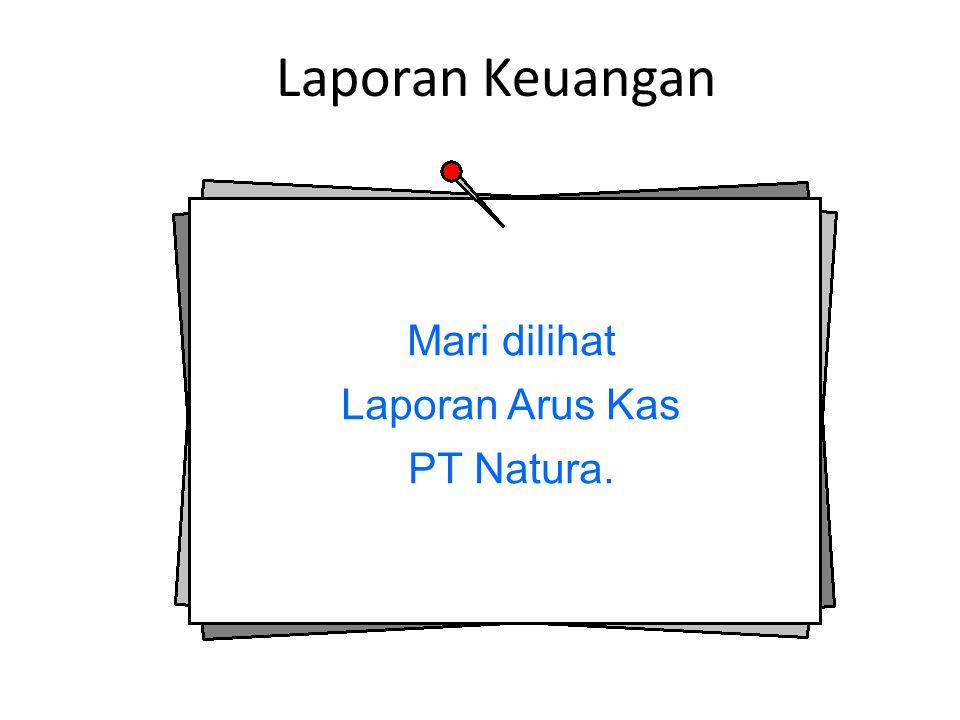 Laporan Arus Kas PT Natura.