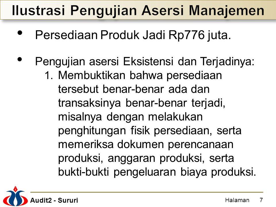Ilustrasi Pengujian Asersi Manajemen