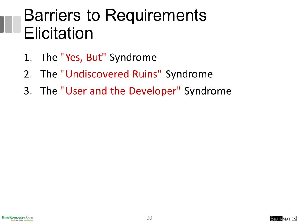 Barriers to Requirements Elicitation
