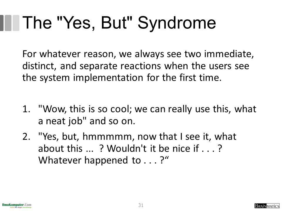 The Yes, But Syndrome