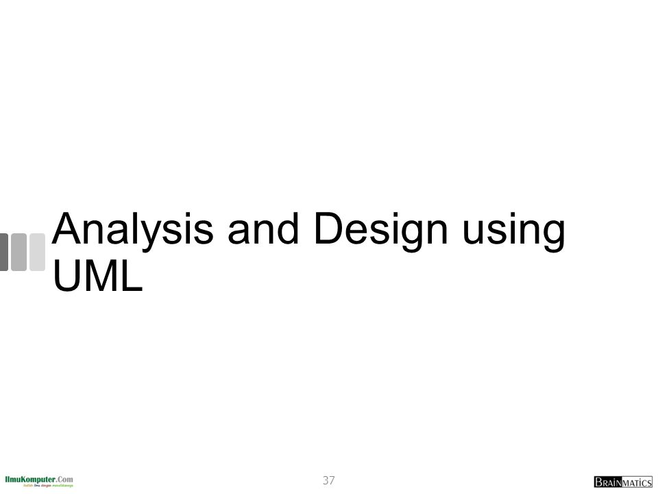 Analysis and Design using UML
