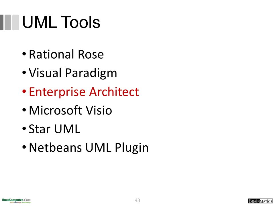 UML Tools Rational Rose Visual Paradigm Enterprise Architect