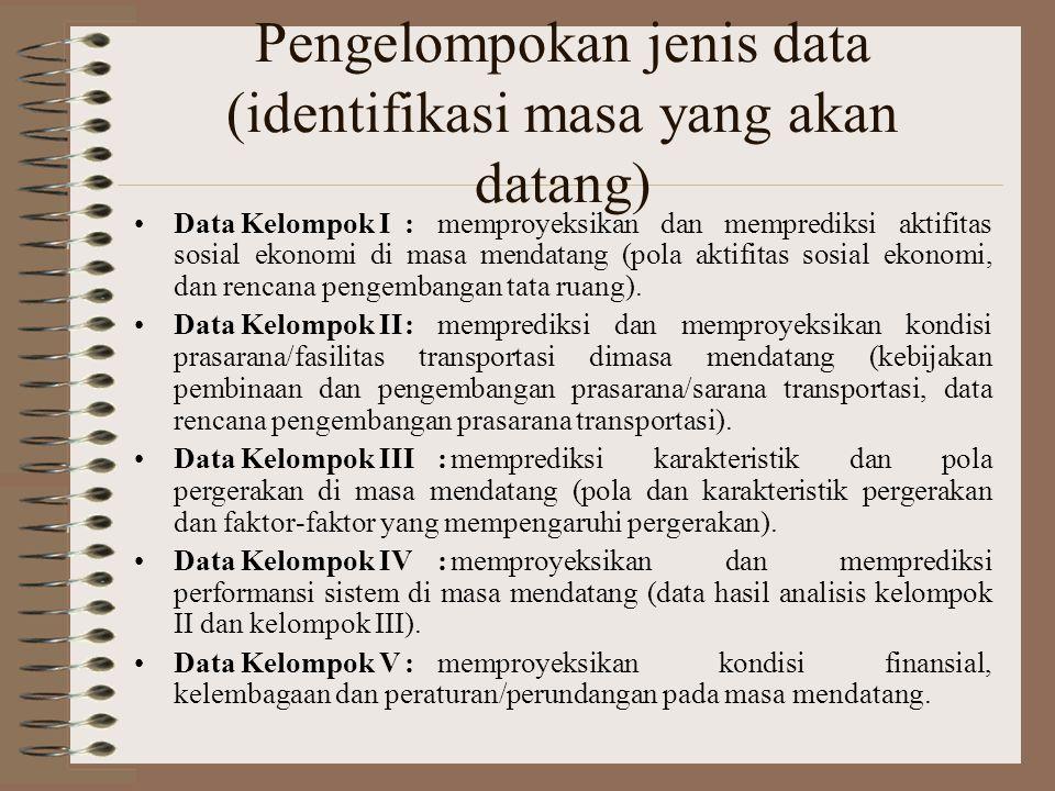 Pengelompokan jenis data (identifikasi masa yang akan datang)