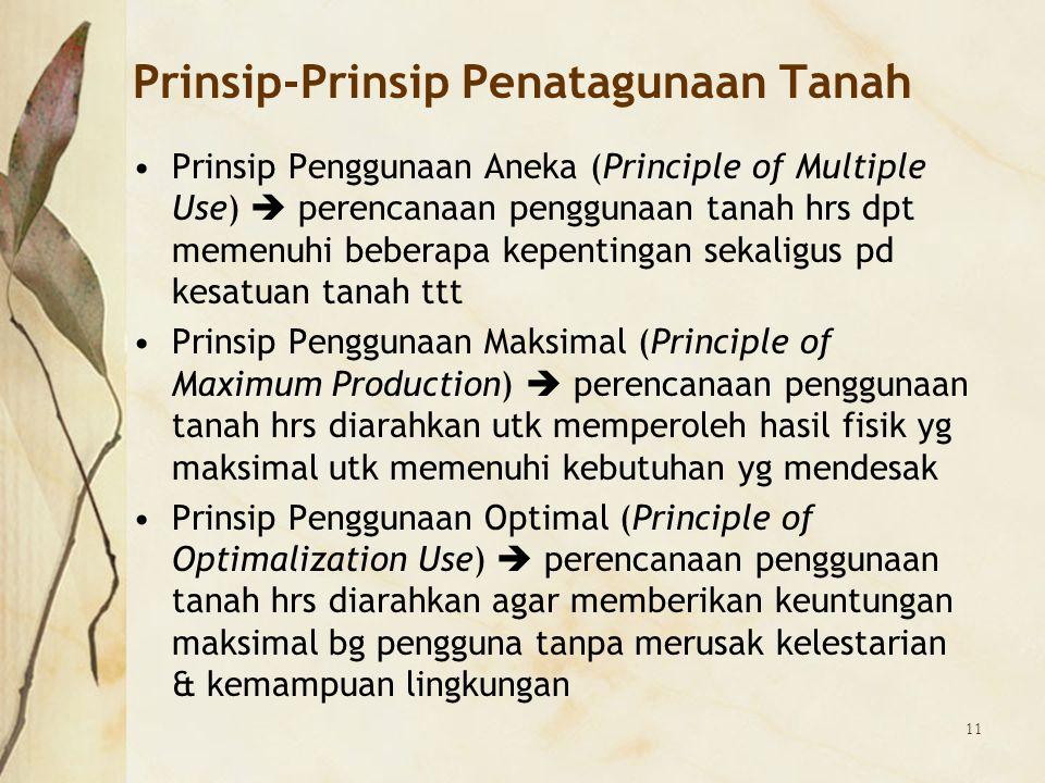 Prinsip-Prinsip Penatagunaan Tanah