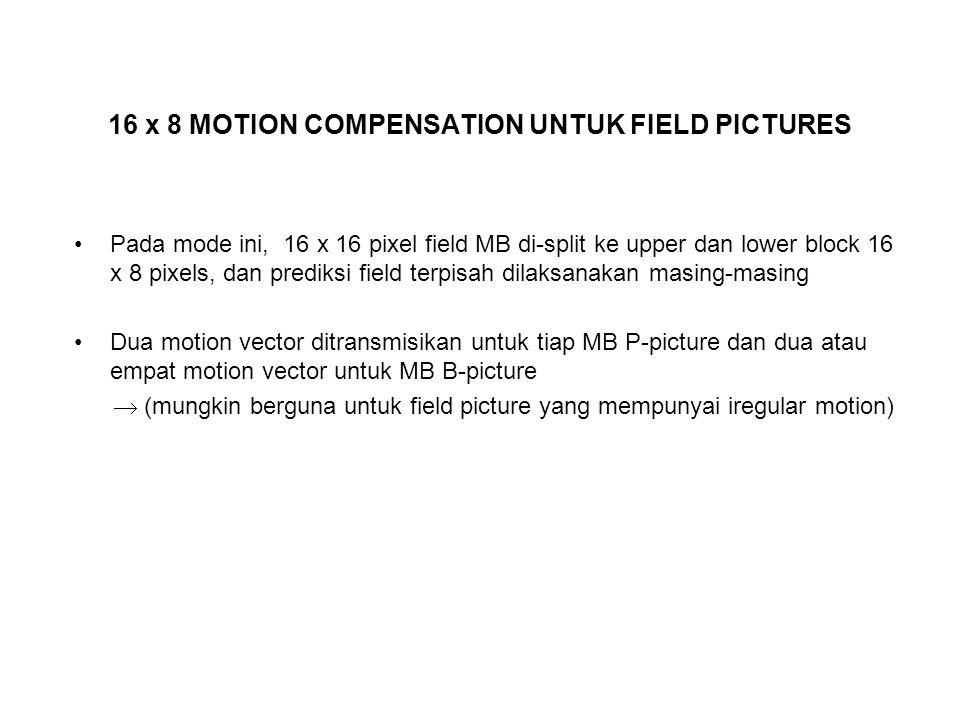 16 x 8 MOTION COMPENSATION UNTUK FIELD PICTURES