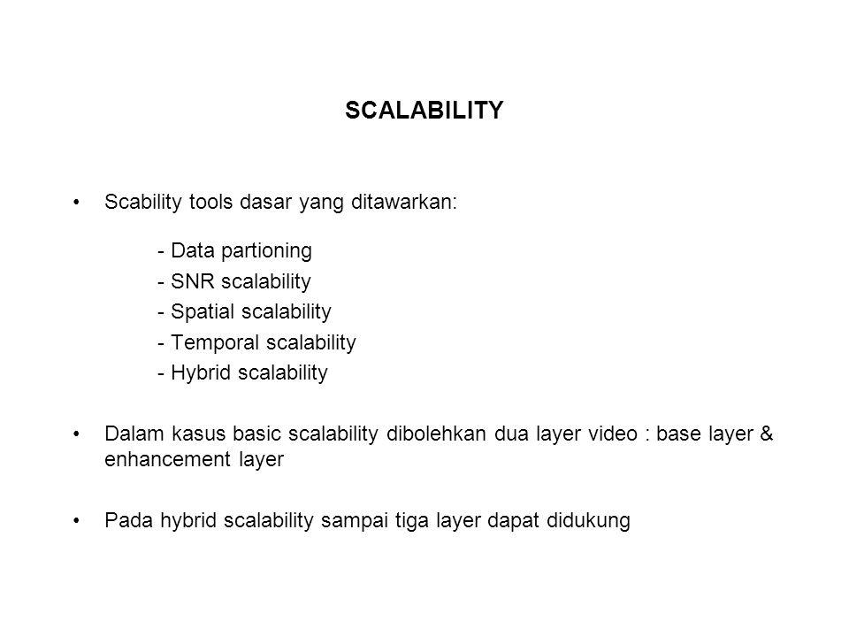 SCALABILITY Scability tools dasar yang ditawarkan: - Data partioning