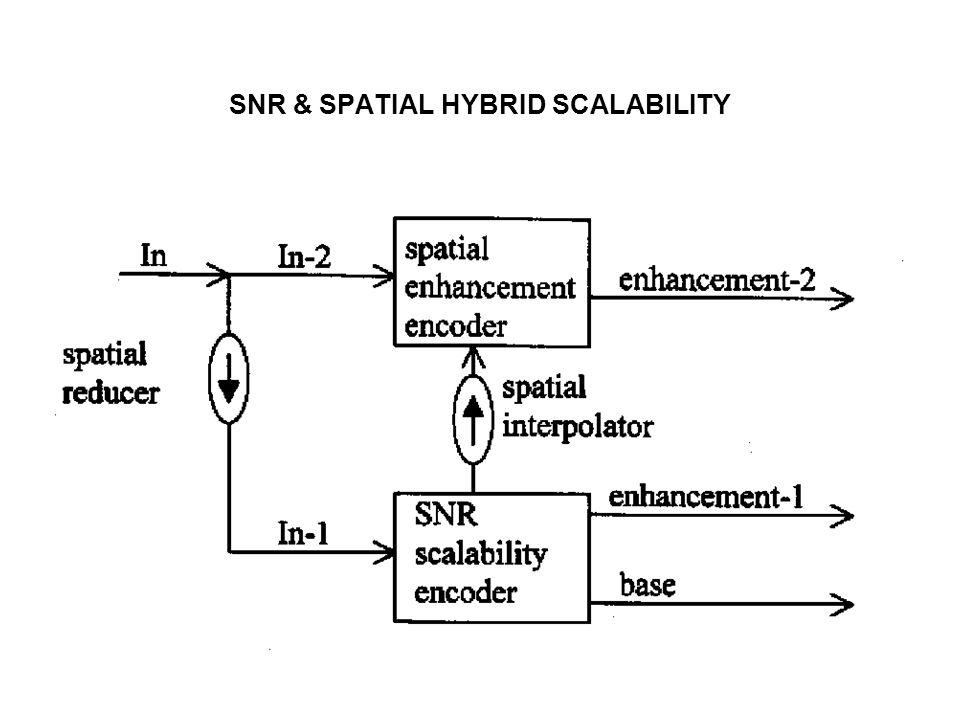 SNR & SPATIAL HYBRID SCALABILITY