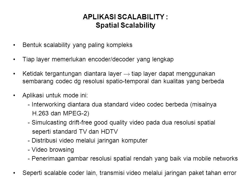 APLIKASI SCALABILITY : Spatial Scalability