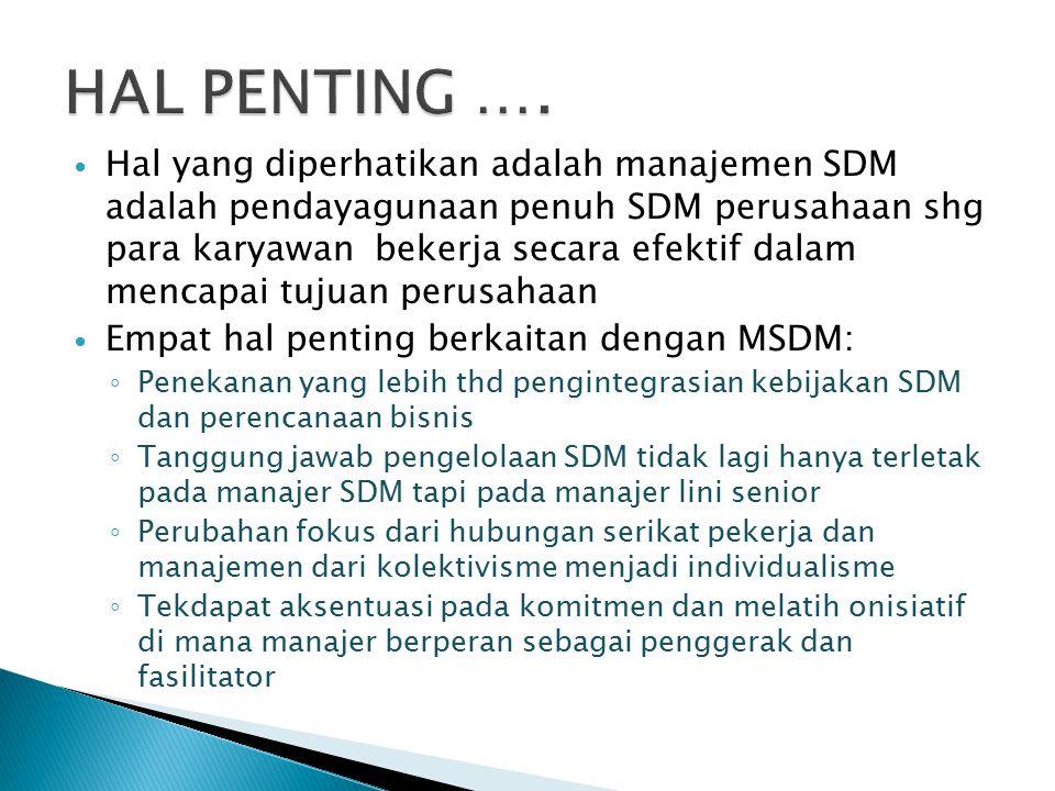 HAL PENTING ….