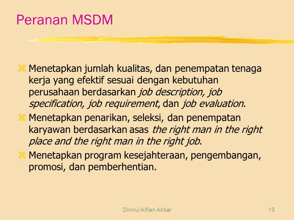 Peranan MSDM
