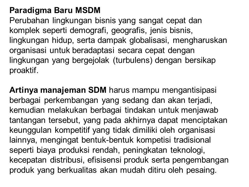 Paradigma Baru MSDM