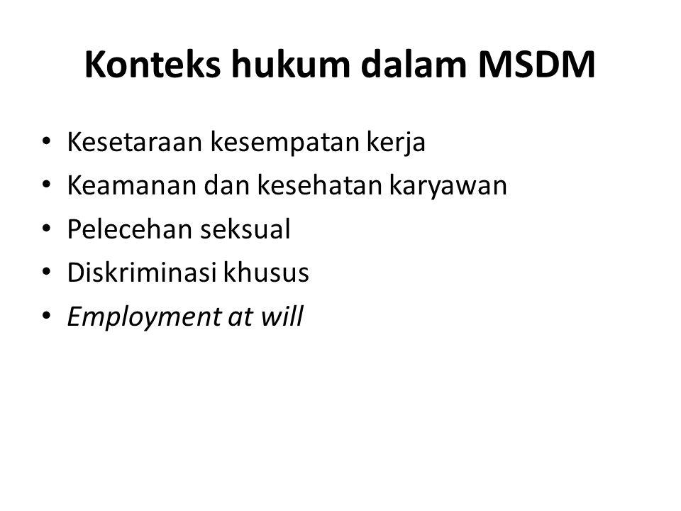 Konteks hukum dalam MSDM