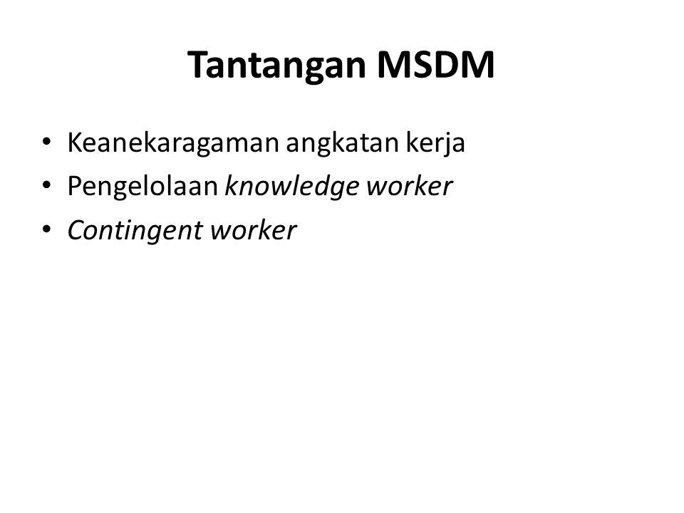 Tantangan MSDM Keanekaragaman angkatan kerja