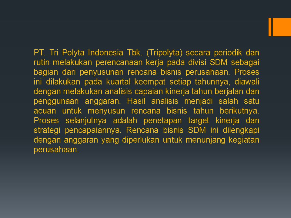 PT. Tri Polyta Indonesia Tbk