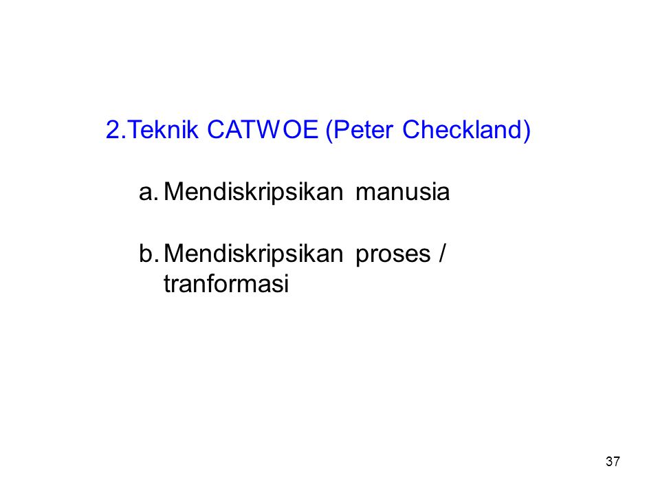 Teknik CATWOE (Peter Checkland)