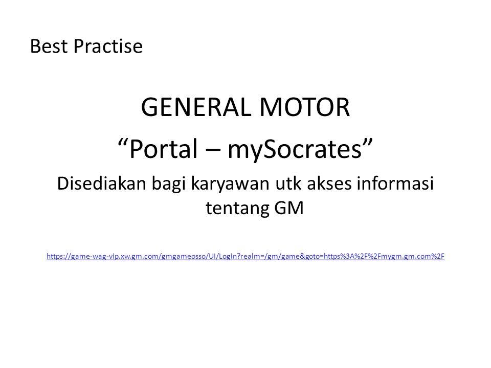 Disediakan bagi karyawan utk akses informasi tentang GM