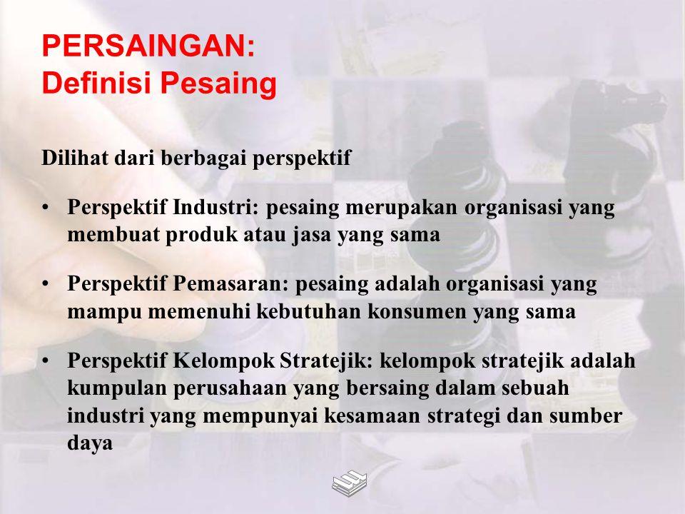 PERSAINGAN: Definisi Pesaing