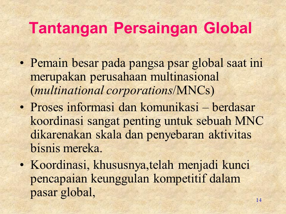 Tantangan Persaingan Global