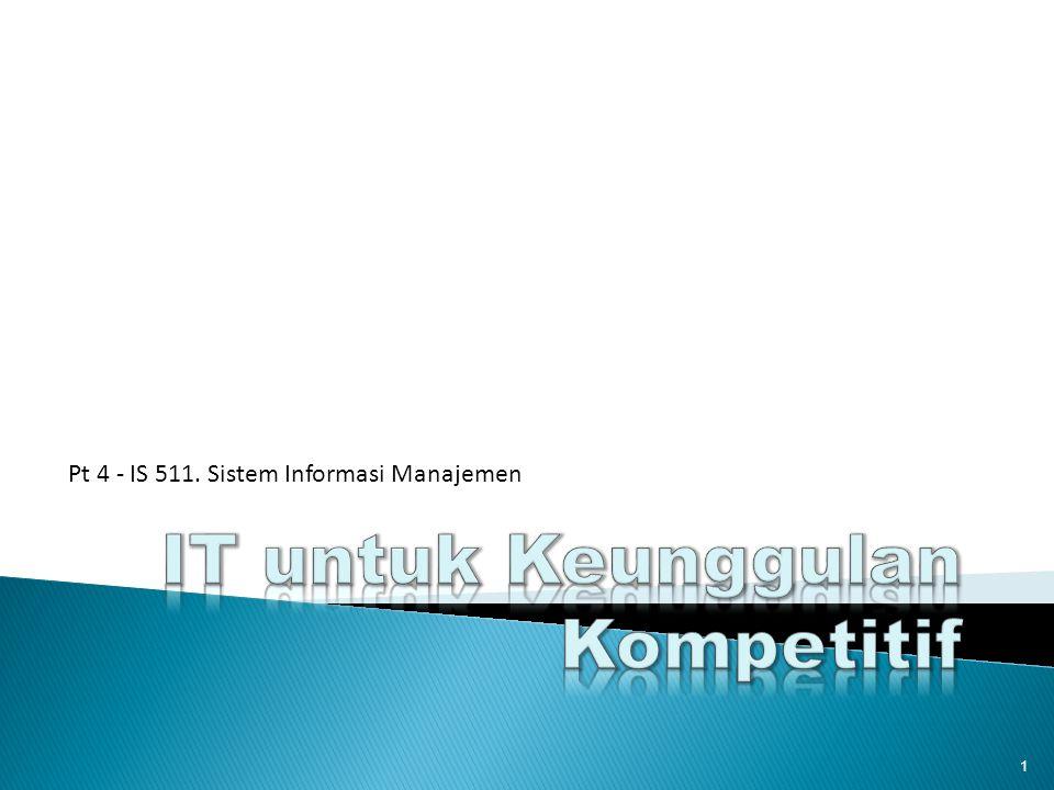 IT untuk Keunggulan Kompetitif