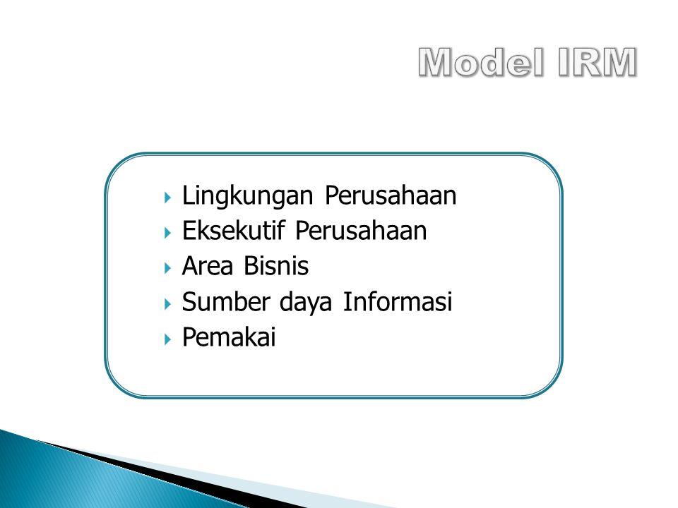 Model IRM Lingkungan Perusahaan Eksekutif Perusahaan Area Bisnis
