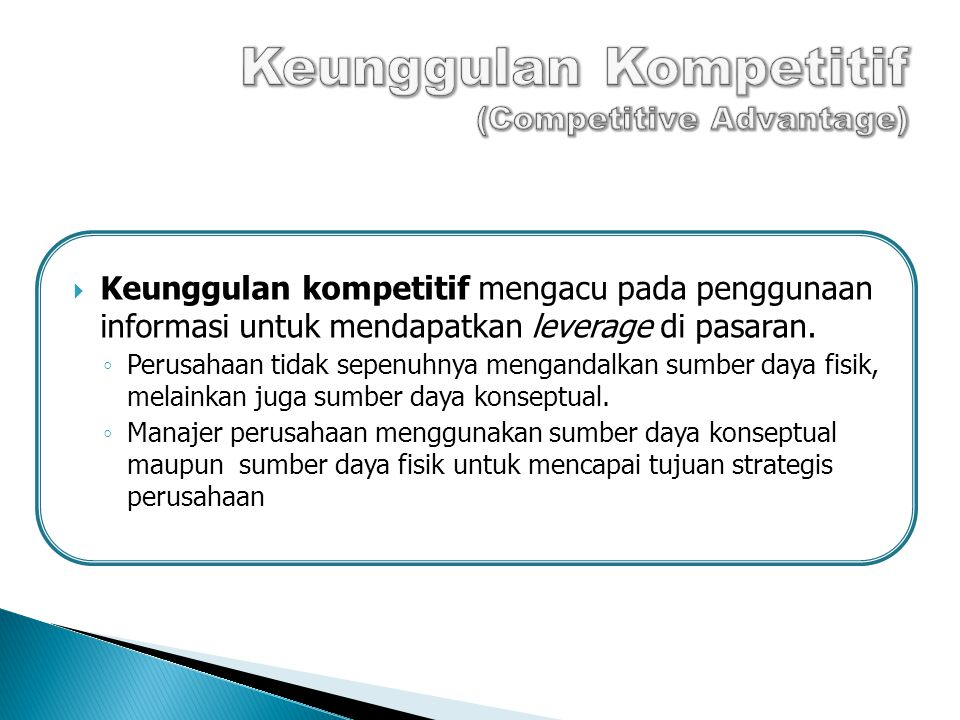 Keunggulan Kompetitif (Competitive Advantage)