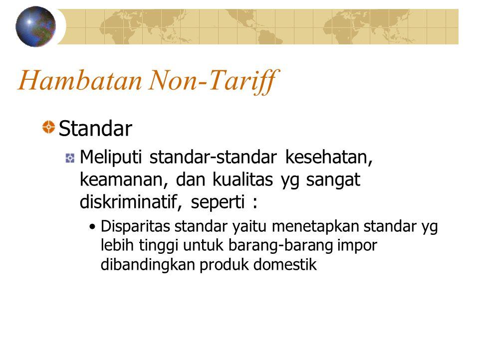 Hambatan Non-Tariff Standar