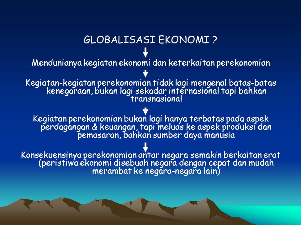 Mendunianya kegiatan ekonomi dan keterkaitan perekonomian