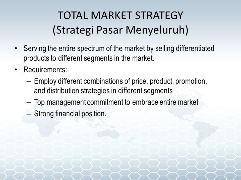 TOTAL MARKET STRATEGY (Strategi Pasar Menyeluruh)