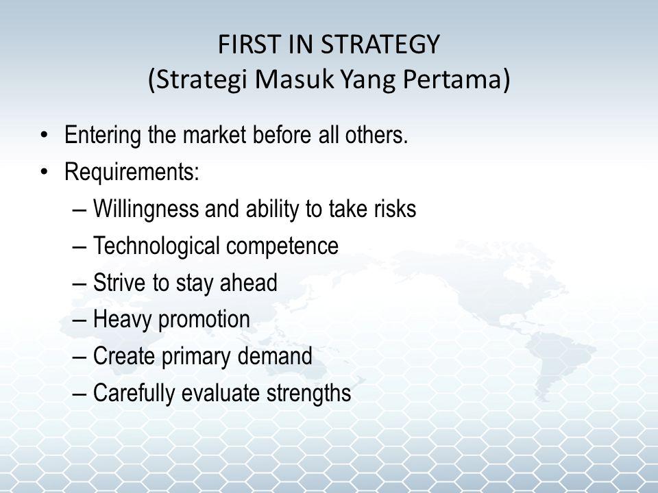 FIRST IN STRATEGY (Strategi Masuk Yang Pertama)