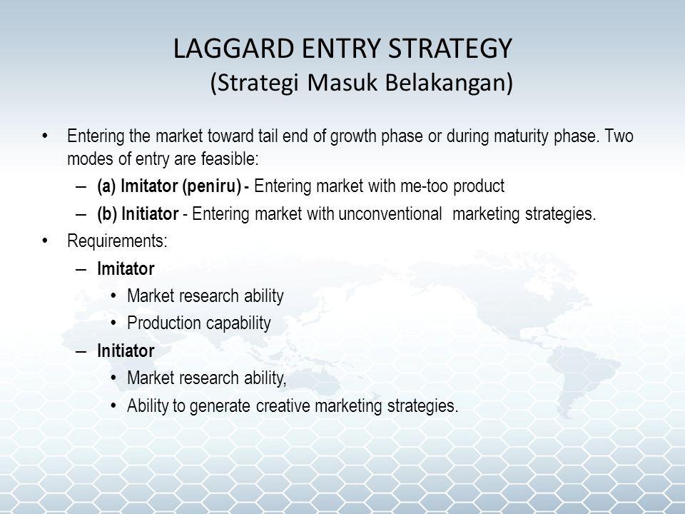LAGGARD ENTRY STRATEGY (Strategi Masuk Belakangan)