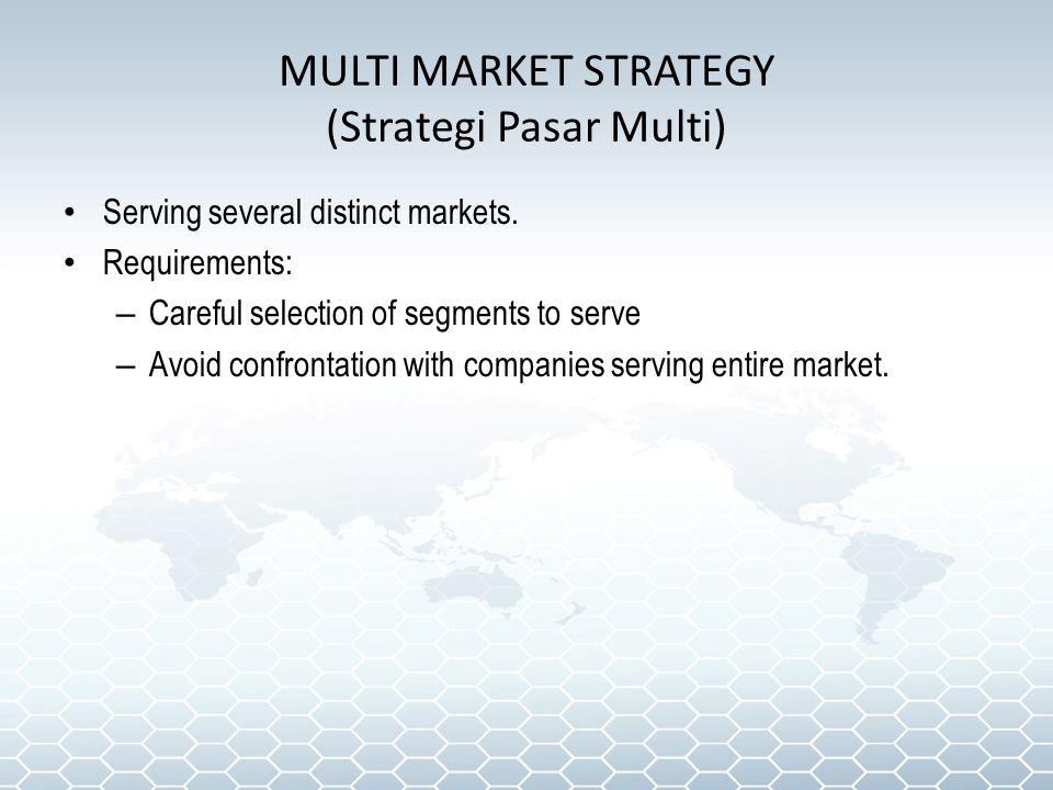 MULTI MARKET STRATEGY (Strategi Pasar Multi)