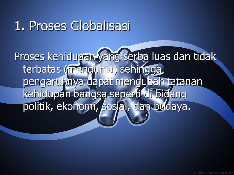 1. Proses Globalisasi