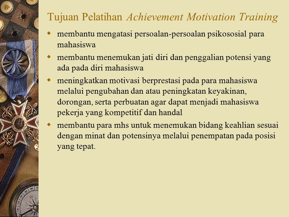 Tujuan Pelatihan Achievement Motivation Training