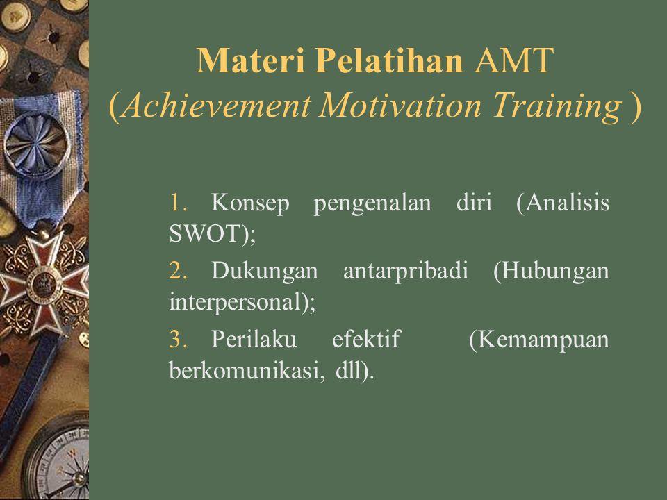 Materi Pelatihan AMT (Achievement Motivation Training )