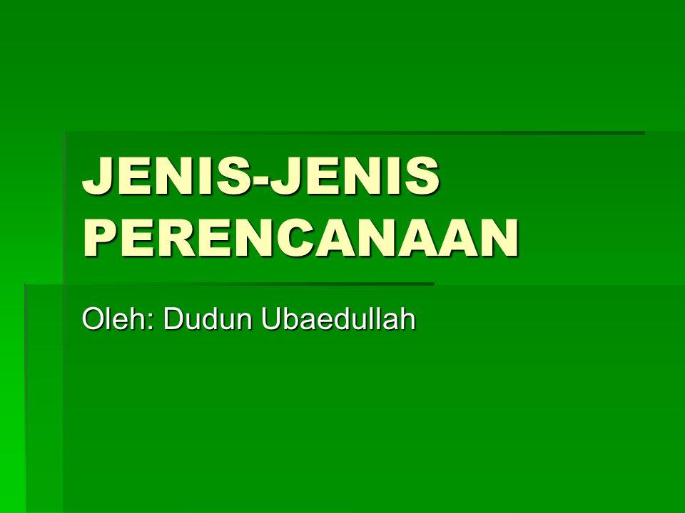 JENIS-JENIS PERENCANAAN