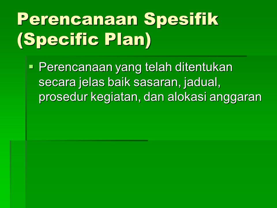 Perencanaan Spesifik (Specific Plan)
