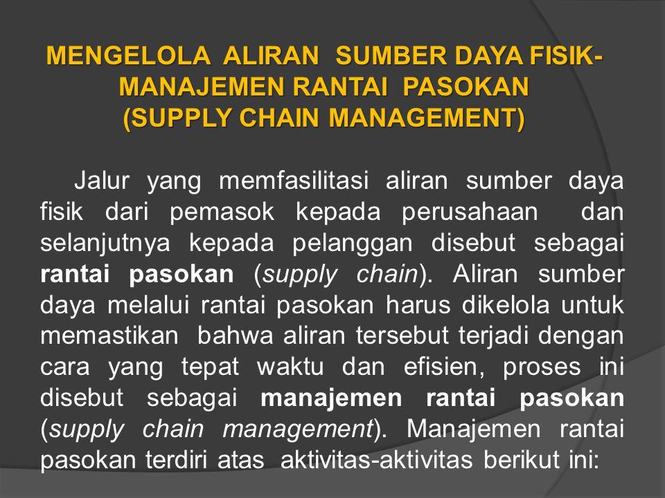MENGELOLA ALIRAN SUMBER DAYA FISIK-MANAJEMEN RANTAI PASOKAN (SUPPLY CHAIN MANAGEMENT)