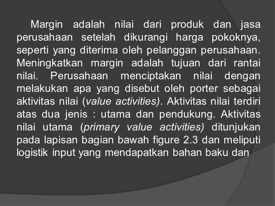 Margin adalah nilai dari produk dan jasa perusahaan setelah dikurangi harga pokoknya, seperti yang diterima oleh pelanggan perusahaan.