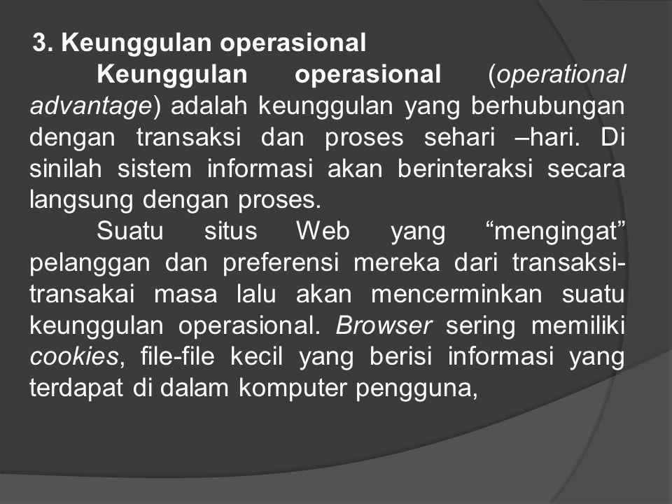 3. Keunggulan operasional