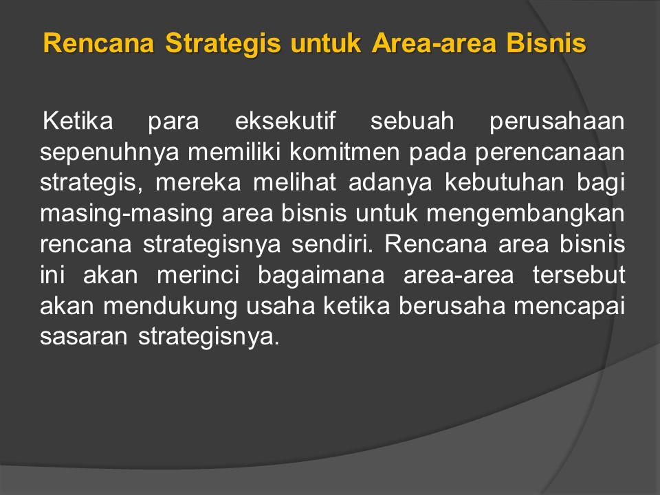Rencana Strategis untuk Area-area Bisnis