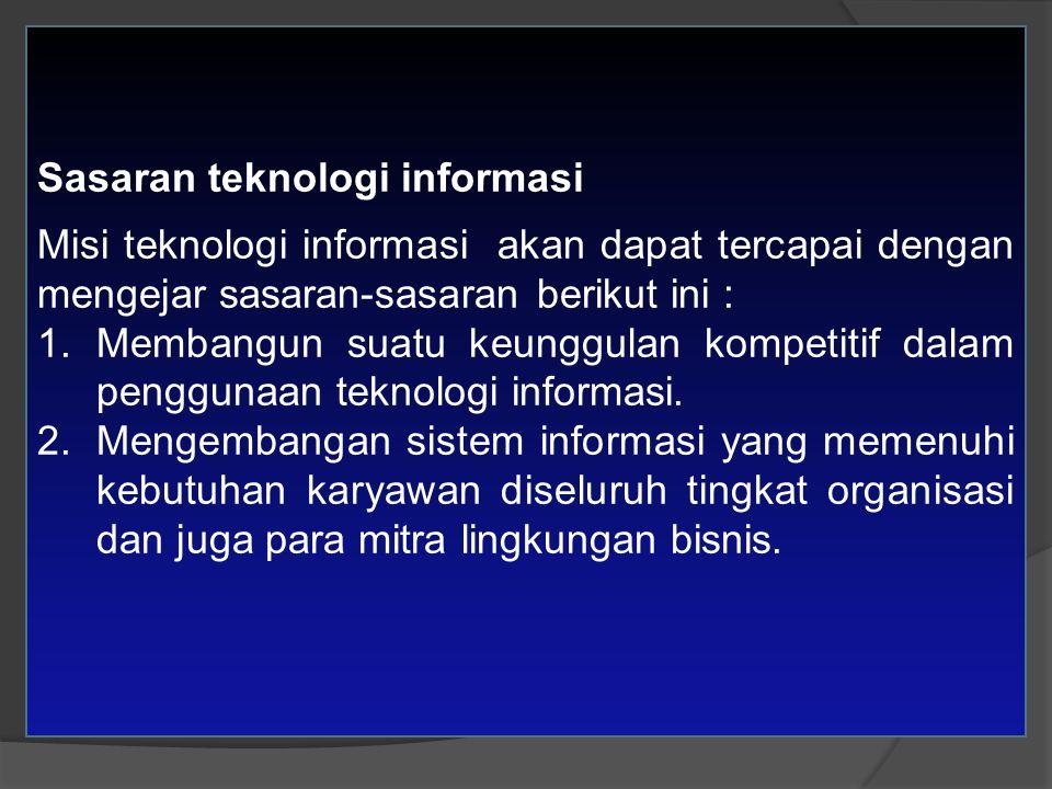 Sasaran teknologi informasi
