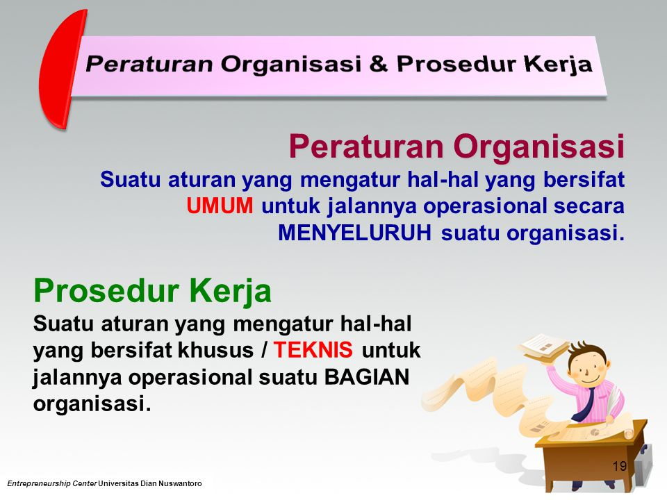 Peraturan Organisasi & Prosedur Kerja