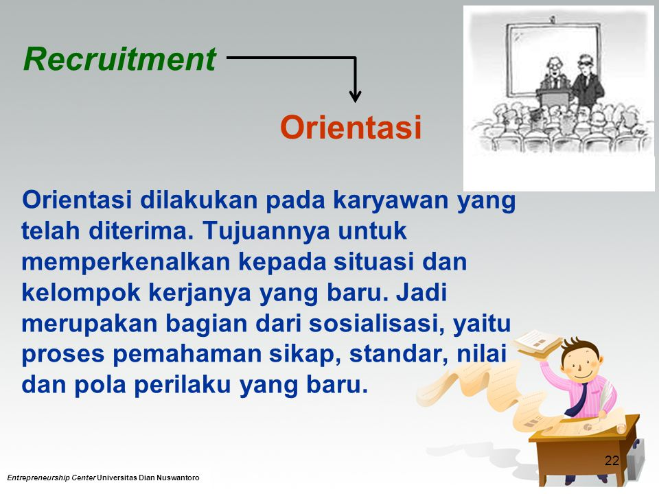 Recruitment Orientasi