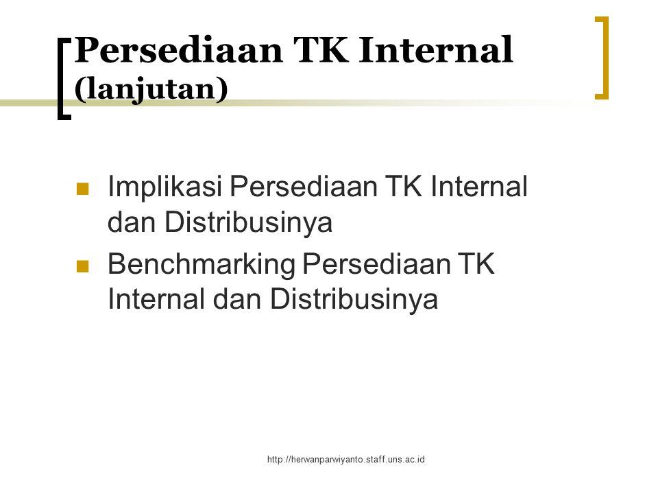 Persediaan TK Internal (lanjutan)