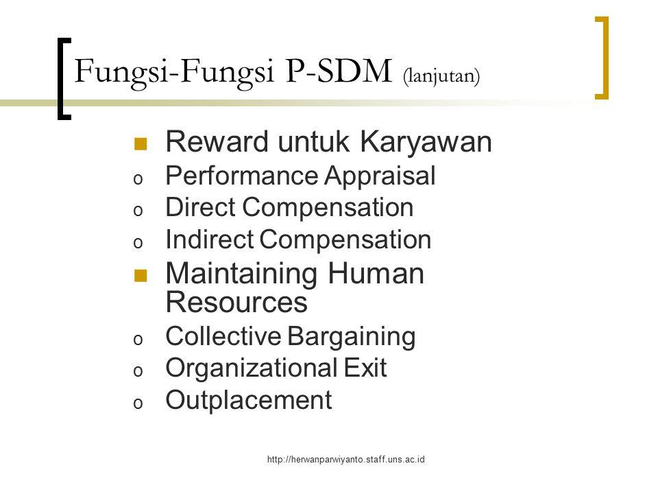Fungsi-Fungsi P-SDM (lanjutan)