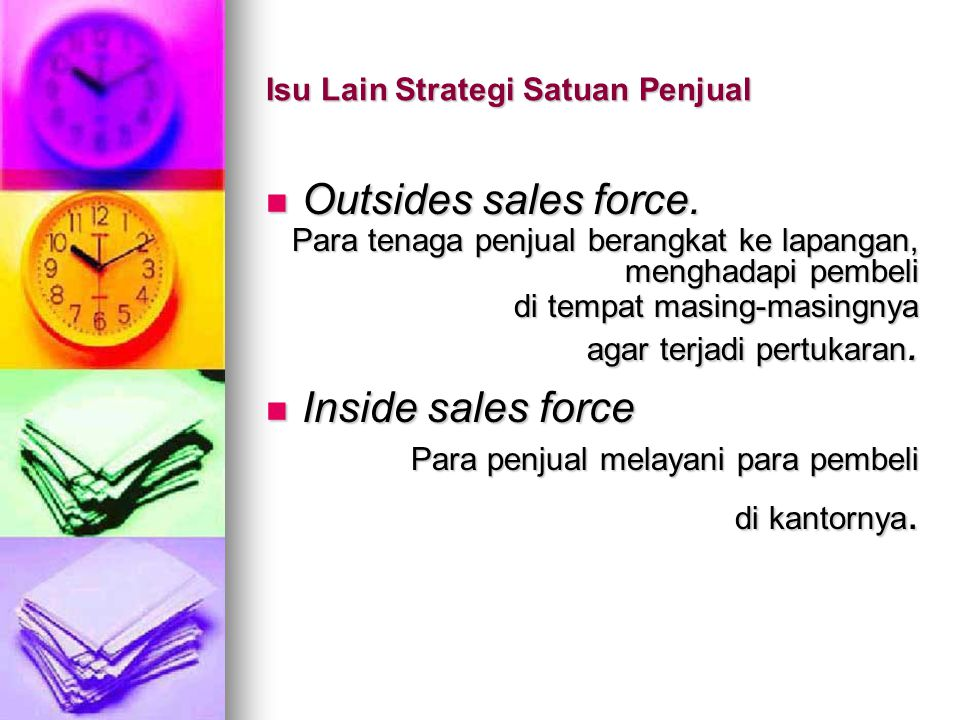 Isu Lain Strategi Satuan Penjual